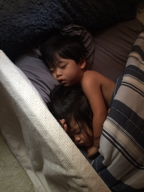 As hectic as co-sleeping may be. Nothing in the world beats seeing the two of them snuggling together!